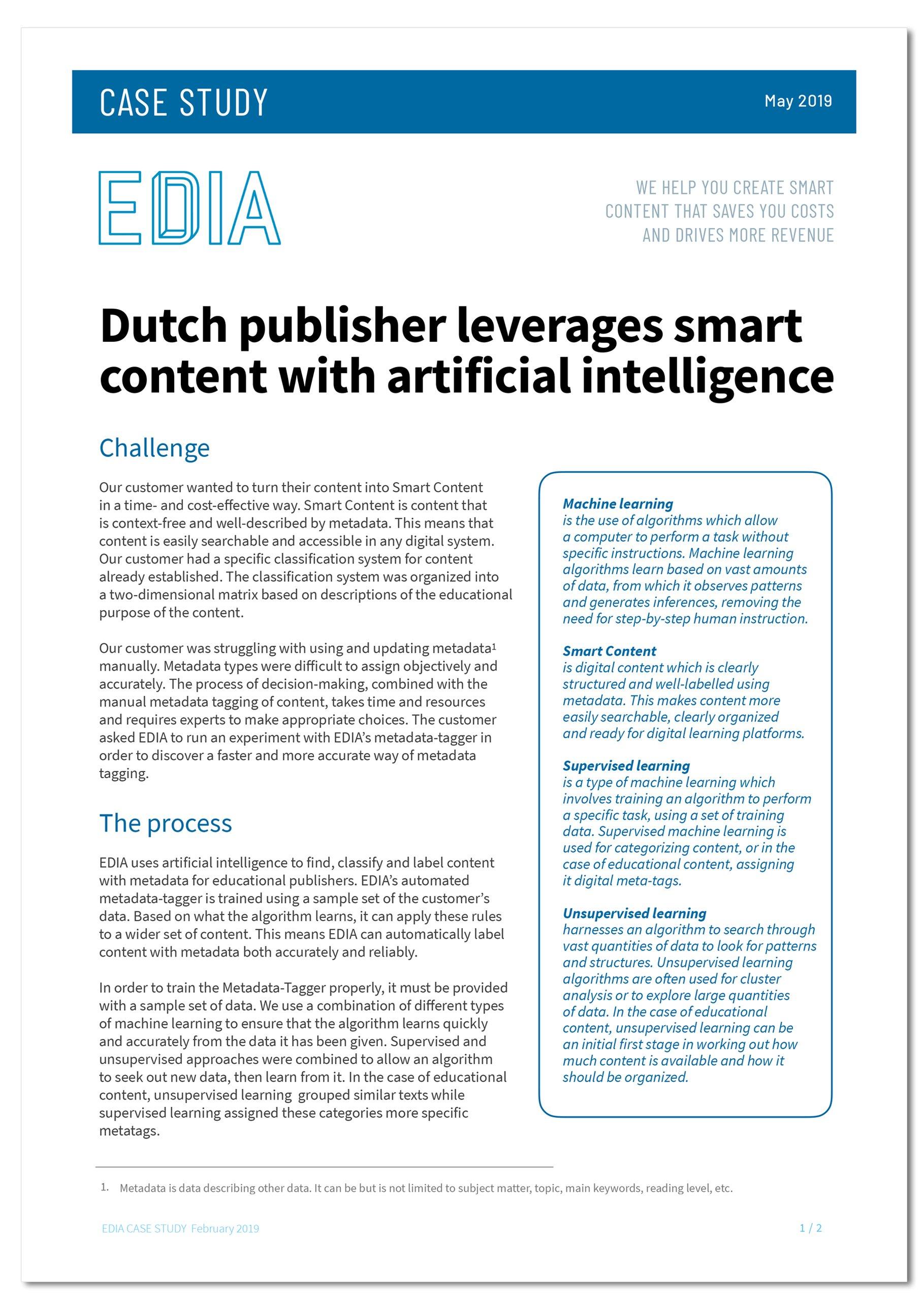 Dutch Publisher case study for website link